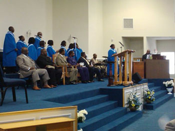 Praise Team Singing a Joyful Noise